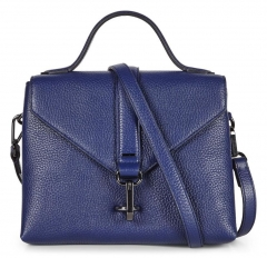elegant soft handfeel top grain cow leather crossbody bag
