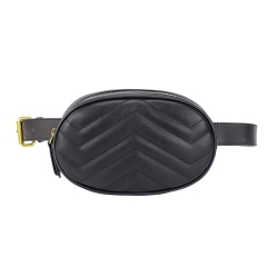soft quilted leather waist bag