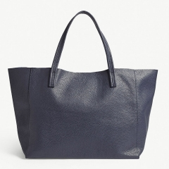 open top raw genuine leather lady OEM tote bag