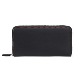 vintage leather women zipper wallet