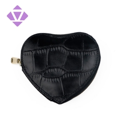 new customize small round shape leather mini zip coin purse