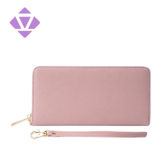 New Wallet Leather Female Long Wallet Women Zipper Purse Money Bag
