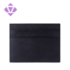 guangzhou factory custom colors saffiano leather slim cread card holder