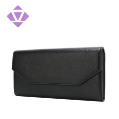 ZENVAN handbag factory custom women slim genuine leather wallet rfid female small zipper wallet