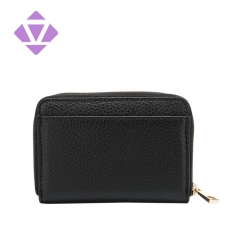 fashion top layer cow grain leather vogue online men mini wallets small coin key card purse