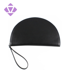 cheap wholesale fashion artifical leather women coin purse pu ladies month shape cell phone wallet