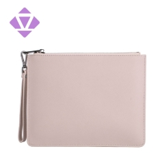 China custom wholesale multi-functional genuine saffiano leather personalized leather clutch bag