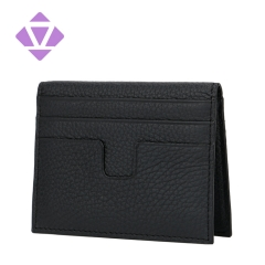 RFID Front Pocket Wallet Slim Genuine Leather Double Sided Card Holder