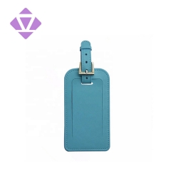 high quality custom private smooth leather label travel luggage tag