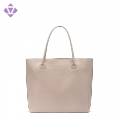 Guangzhou direct factory elegant fashion lady genuine cow leather tote shopping bag for women handbags purse Bolsas de cuero