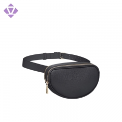 stylish fashion genuine leather fanny pack sport waist bum bag for women and men