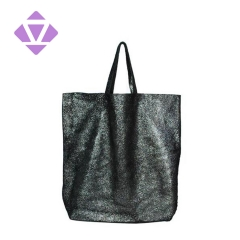 2020 hot seller women metallic foil leather tote bag