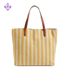 custom designer fabric canvas and claf leather tote bags women handbags