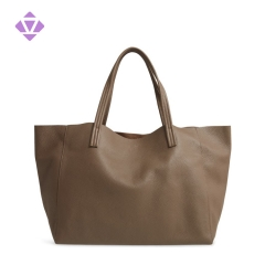 large volume genuine pebble leather tote female fashion handbag